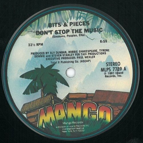 BITS AND PIECES Don't Stop The Music Vinyl Record 12 Inch US Mango 1981